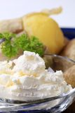 Potatoes and cottage cheese Stock Photos