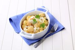 Potatoes and cream Royalty Free Stock Photo
