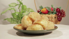 Potatoes with a crispy crust with rosemary stock video footage
