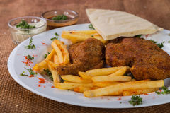 Potatoes with cutlets of meat Royalty Free Stock Photo