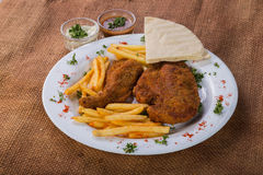 Potatoes with cutlets of meat Stock Photography