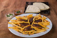 Potatoes with cutlets of meat Stock Photo