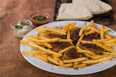 Potatoes with cutlets of meat Royalty Free Stock Photos
