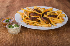Potatoes with cutlets of meat Royalty Free Stock Photography