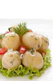 Potatoes with dill Stock Images