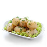 Potatoes with dill Stock Photos