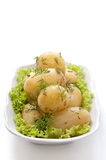 Potatoes with dill Royalty Free Stock Images