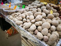 Potatoes in farmers market Royalty Free Stock Image