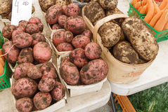 Potatoes at Farmers Market Stock Photography