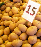 Potatoes in a farmers market Stock Image