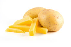 Potatoes with french fries Royalty Free Stock Photos