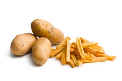 Potatoes with french fries Royalty Free Stock Image