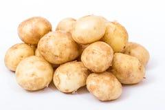 Potatoes. Fresh potatoes on white background royalty free stock photos