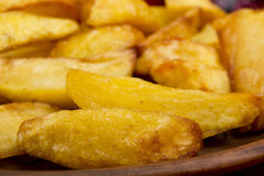 Potatoes Fried In Lard Stock Photo