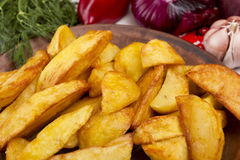Potatoes Fried In Lard Royalty Free Stock Image