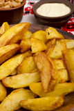 Potatoes fried in lard Stock Photography
