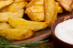 Potatoes fried in lard Royalty Free Stock Images