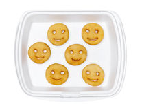 Potatoes fried smiles Royalty Free Stock Images