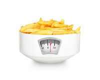 Potatoes fries in the plate Royalty Free Stock Photos