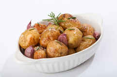 Potatoes & Garlic Royalty Free Stock Images