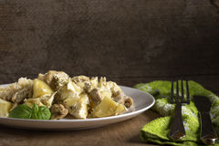 Potatoes gratin with cream Stock Images