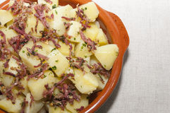 Potatoes with ham Royalty Free Stock Photography