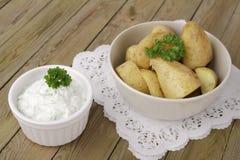 Potatoes with herbed quark Stock Image