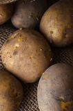 Potatoes in Hessian Sack from Above Royalty Free Stock Image
