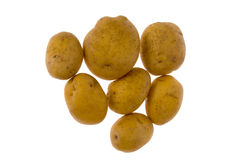 Potatoes isolated. Some potatoes isolated on white background stock photo