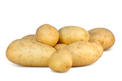 Potatoes isolated Stock Photography