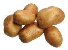 Potatoes, isolated Stock Images