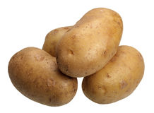 Potatoes, isolated Stock Image