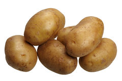Potatoes, isolated Royalty Free Stock Images