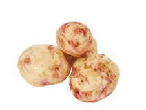 Potatoes isolated Stock Images