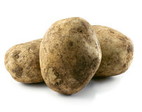 Potatoes isolated Royalty Free Stock Photo