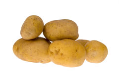 Potatoes isolated on white background. Some potatoes isolated on white background royalty free stock photo