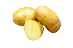 Potatoes isolated on white background royalty free stock images