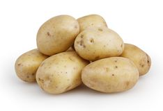 Potatoes isolated on white Royalty Free Stock Images
