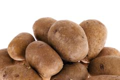 Potatoes isolated on white Royalty Free Stock Photography