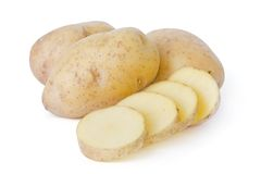 Potatoes isolated on white background Royalty Free Stock Photos
