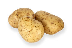 Potatoes isolated on a white background Stock Image