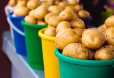 Potatoes at local market Stock Photo
