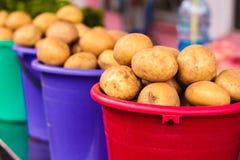 Potatoes at local market Royalty Free Stock Photos
