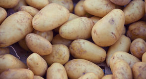 Potatoes at market stall Stock Photography
