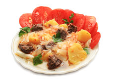 Potatoes with meat. Stock Image