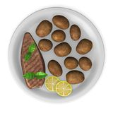 Potatoes with meat Stock Image