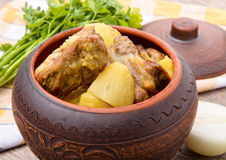 Potatoes with meat Royalty Free Stock Image