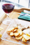 Potatoes, meat and wine Royalty Free Stock Image