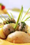 Potatoes and mushrooms Royalty Free Stock Photo