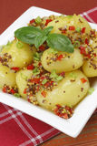 Potatoes in a mustard sauce Royalty Free Stock Images
